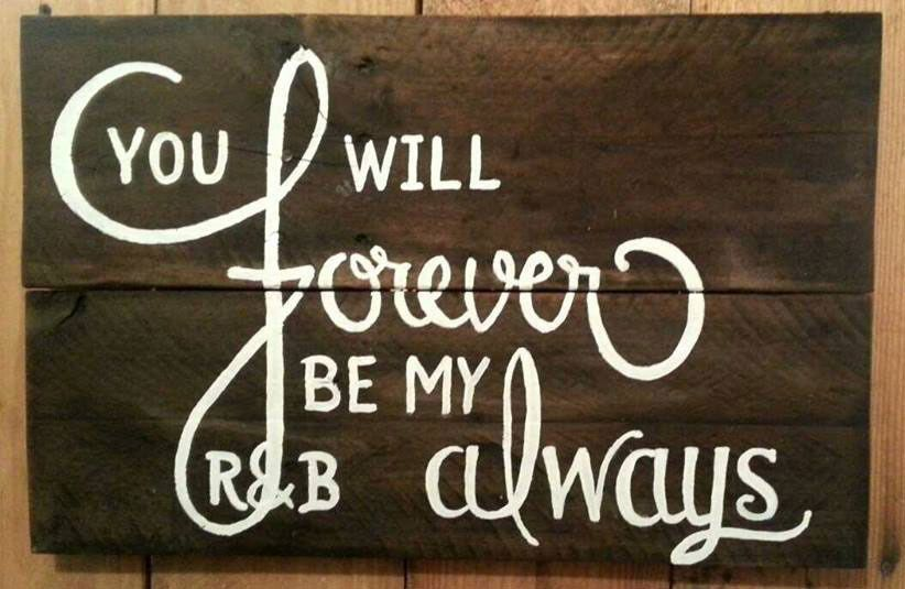 """You Will Forever Be My Always - Hand Painted Rustic Garden Pallet Sign (12"""" W x 18"""" L). Made in the..."""