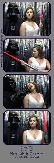 Meredith & Coleman have a one of a kind wedding theme...Old Hollywood meets Star Wars. Best Wishes...
