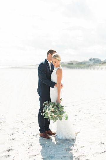 a coastal wedding with classic touches at the reed