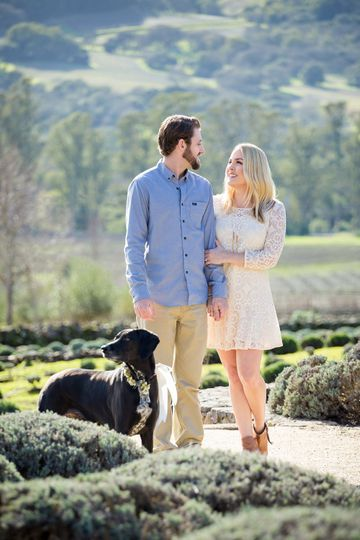 Engagement session with pet!