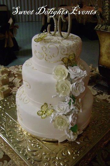 sweet delights cake 50 dorados