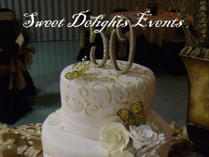 Tmx 1439435330034 Sweet Delights Cake 50 Dorados Kissimmee wedding cake