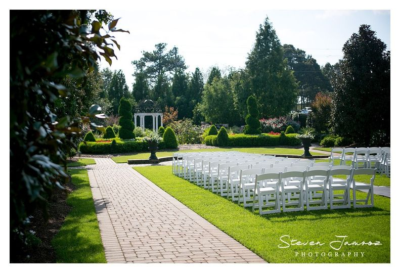 The Hall Gardens At Landmark Venue Garner Nc Weddingwire