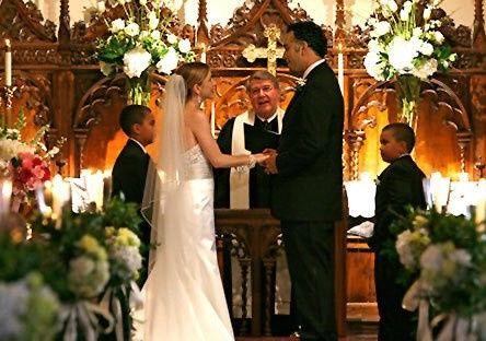 altar with bride groom