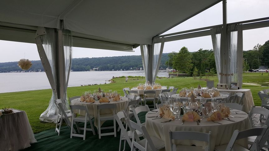 Wedding outdoor reception