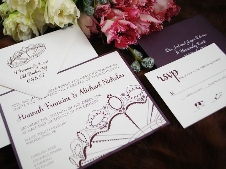 Tmx 1462564942664 Hannah Invitesuite Philadelphia wedding invitation