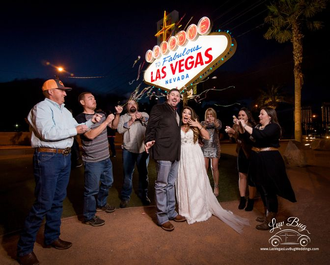 LV Sign Wedding
