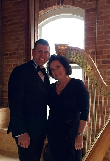 Performing for Chad Biggs at his wedding.
