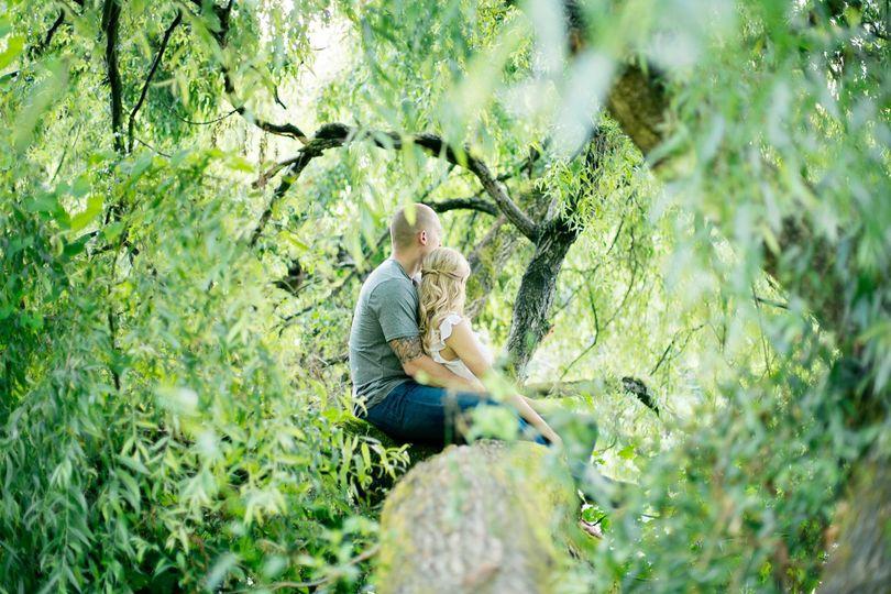 washington arboretum engagement portraits willow