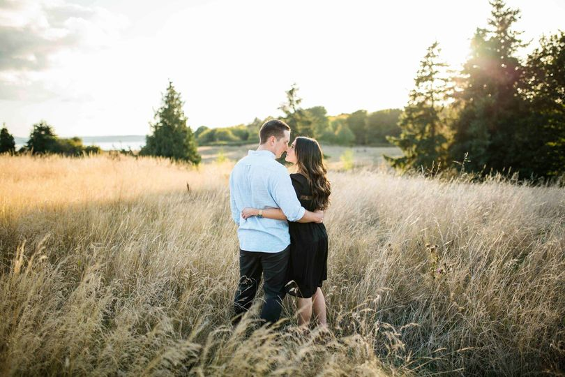 discovery park engagement portraits engaged seat