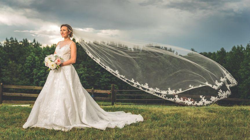Flowing veil