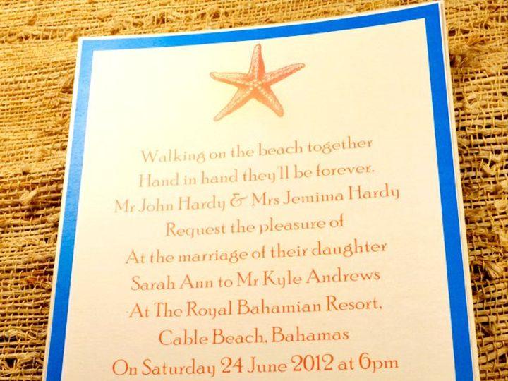 Tmx 1350406806419 Redseainvitation Hampton wedding invitation