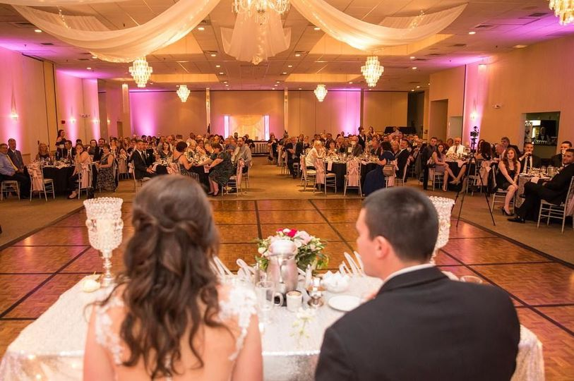 The newlyweds' table