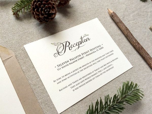 reception rustic ivory and kraft