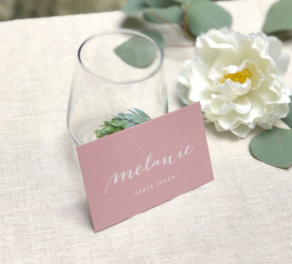 Blush pink place card