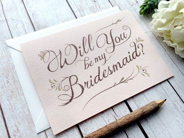 Tmx 1452620610784 Bllush Bridemaid Pic Philadelphia, PA wedding invitation