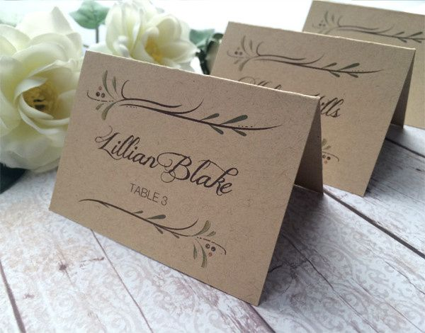 Tmx 1452620858317 Place Cards Kraft W Name Philadelphia, PA wedding invitation