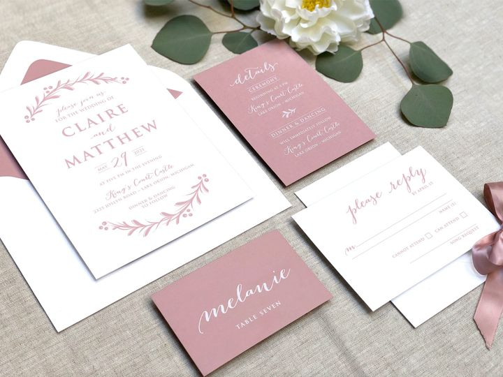 Tmx Pink Blush Invites 51 907034 157850516356705 Philadelphia, PA wedding invitation