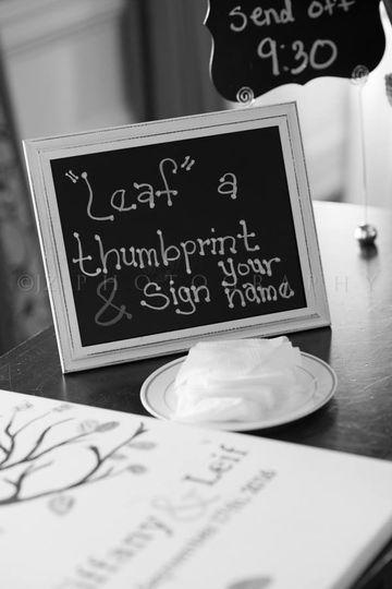 Thumbprint and signature