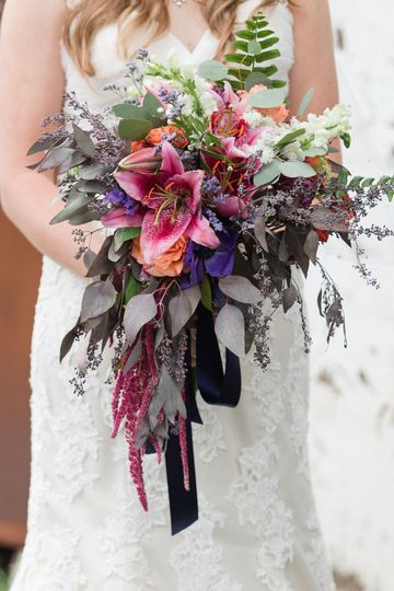 Pink and violet bouquet