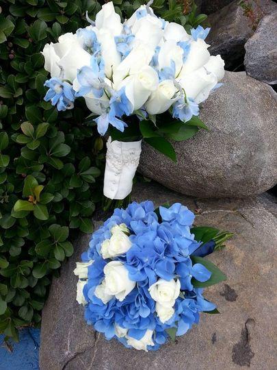 Blue bouquets