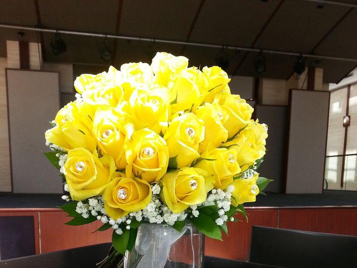 Tmx 1366056496393 Yellow Rose Bling Bouquet Charlotte wedding florist