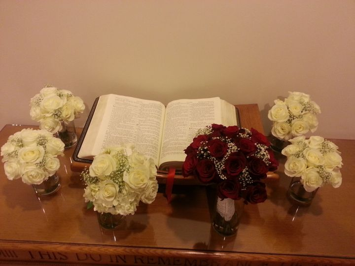Tmx 1390390638245 Bride And Bridesmaids Bouquet Charlotte wedding florist