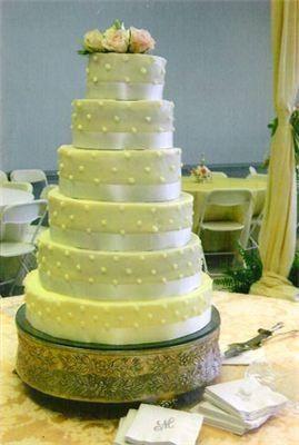 6 layered wedding cake