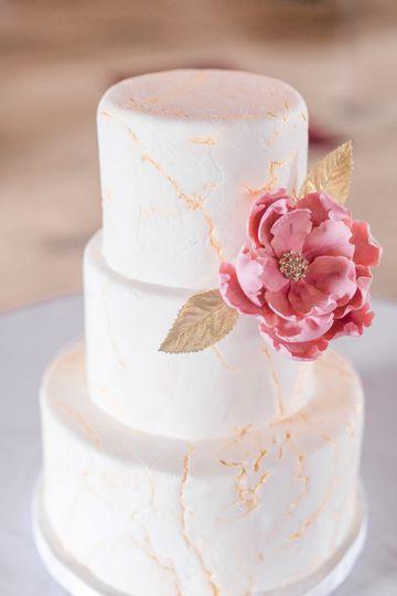 Marbled gold wedding cake