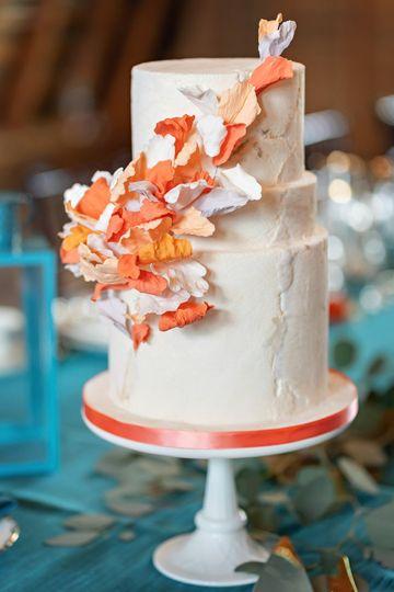 Orange Blossoming Petals cake