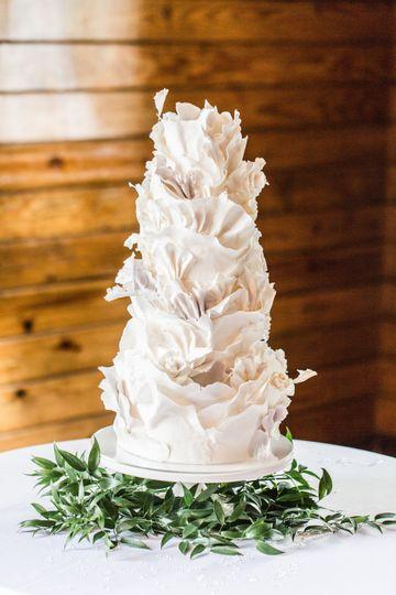 Torn Paper Ruffles Cake