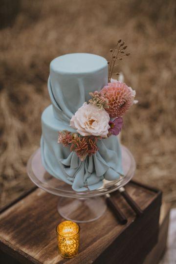 Blue Draped cake