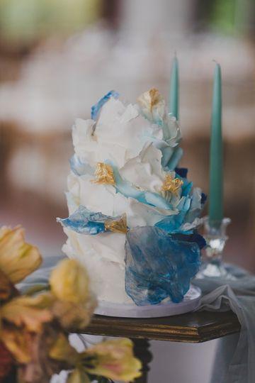 Ocean Waves wedding cake