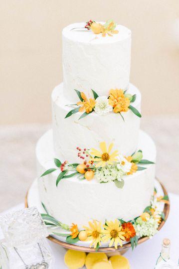 Torn Fondant Citrus cake