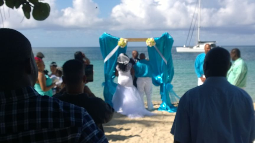 On Lindbergh Bay Beach in St. Thomas, U.S.V.I done by Laurens Bridal of the Virgin Islands, located...