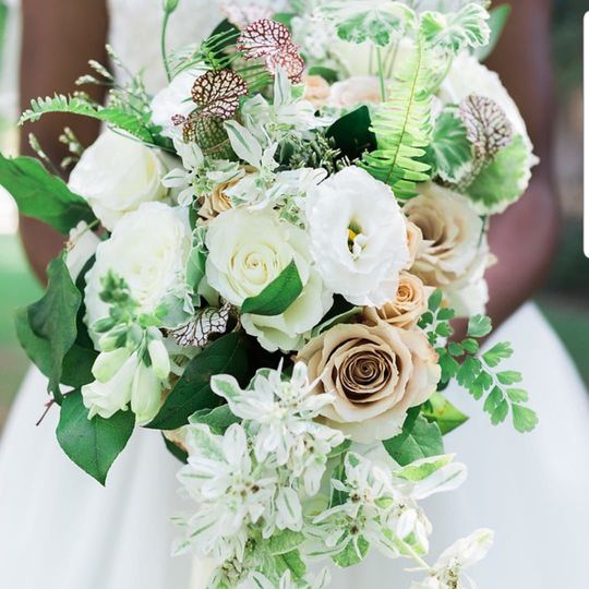 The wedding flowers