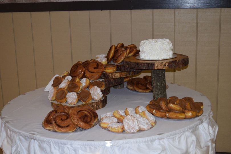 Bread and wedding cake