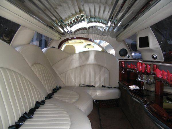 Interior of 8 seat super stretch limousine