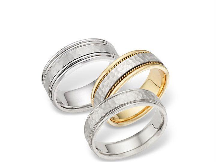 Tmx 1371662416455 Hammered Set On White Altadena wedding jewelry