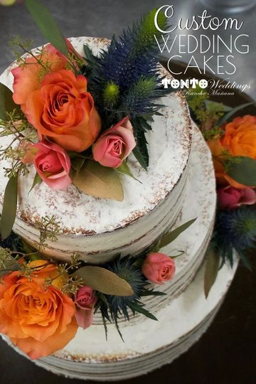Custom Wedding Cake by Tonto Bar & Grill - Photo taken from wedding site