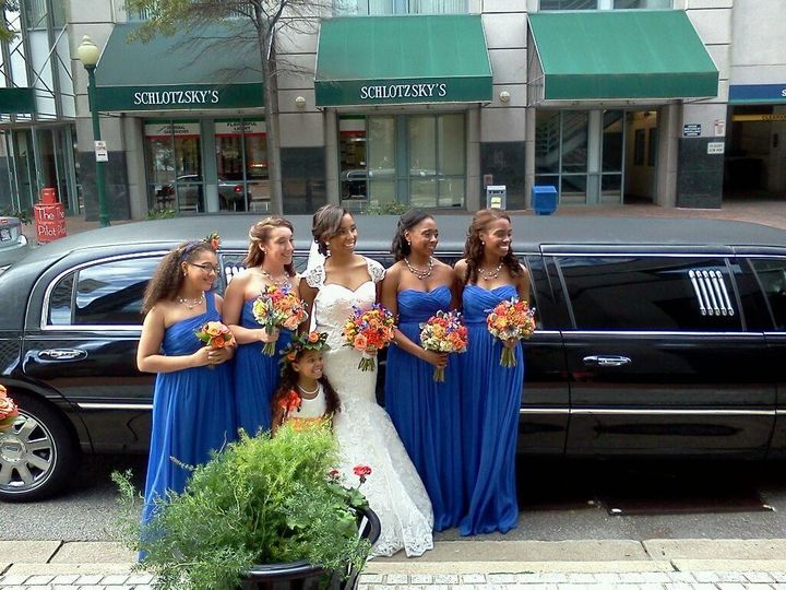 Tmx 1387484362103 Bride And Blue Bridesmaid Virginia Beach wedding transportation