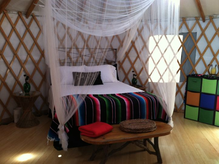 Look out yurt is perfect for your honeymoon night.