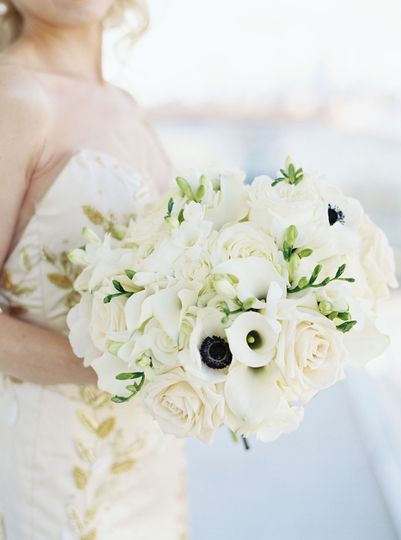Modern White Bridal Bouquet