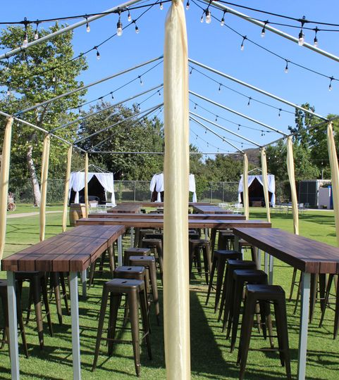We can tailor OUR set up to match the decor and style of YOUR wedding set up.