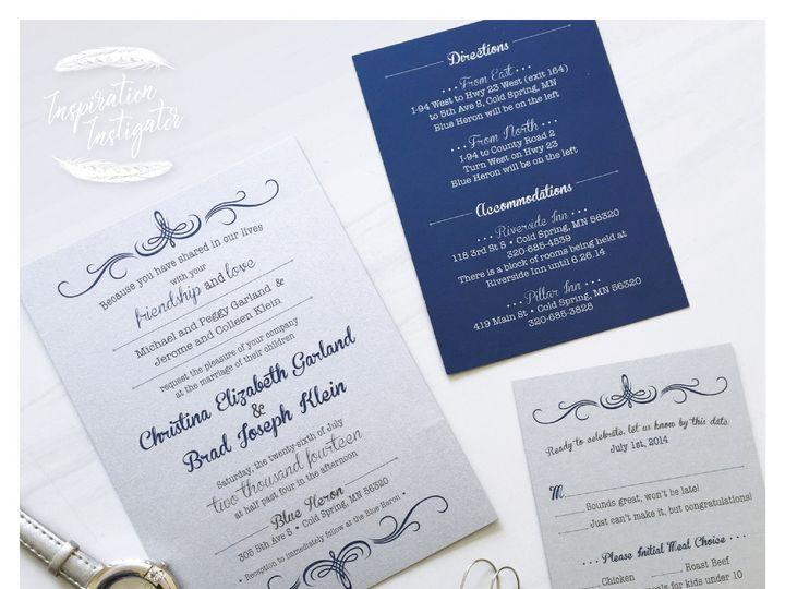 Tmx 1460141713510 Invitationbluesilvergram 01 Zimmerman wedding invitation
