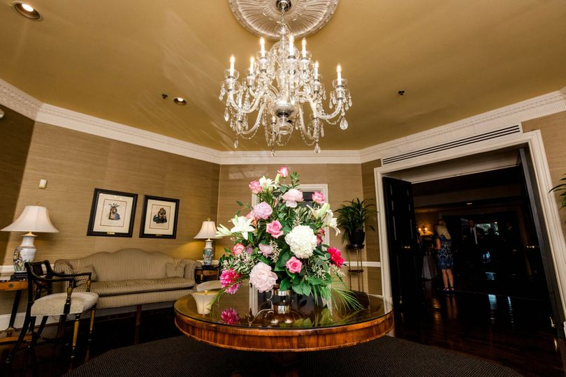 Entry table at Algonquin Country Club