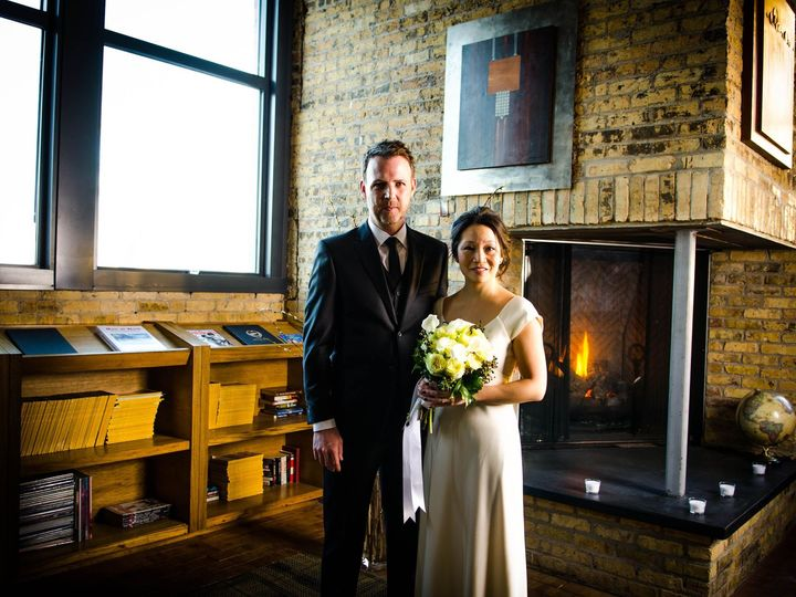 Tmx 1391122536049 Wedding In Front Of Fireplac Milwaukee, WI wedding venue