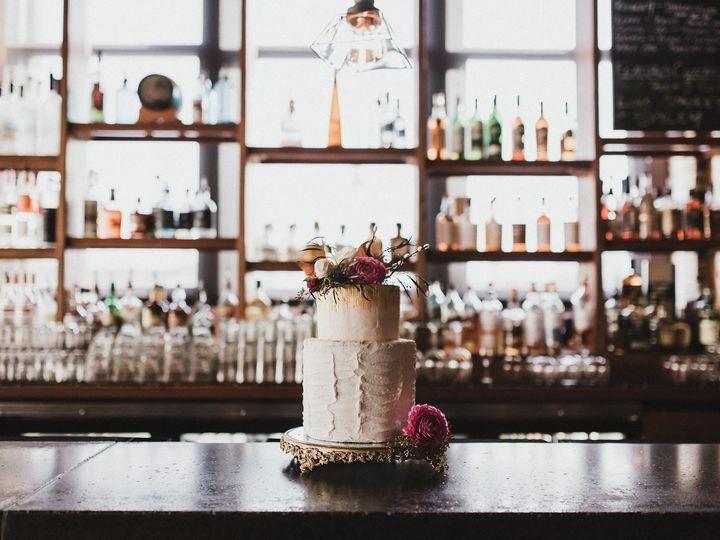 Tmx 1509575501126 Cake On Branded Bar. Roost Photography Milwaukee, WI wedding venue