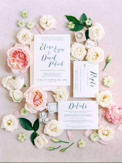 Textured Florals + Invite Suit