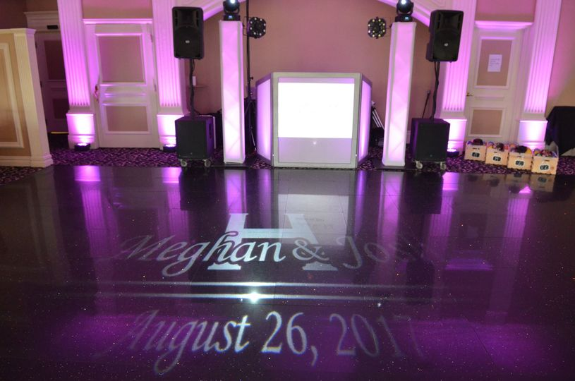 Our Standard Wedding Package With A Custom Gobo Light